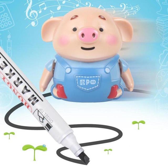 צעצוע חינוכי - חזיר שעוקב אחרי הכתב יד ( חבילה כוללת את העט)