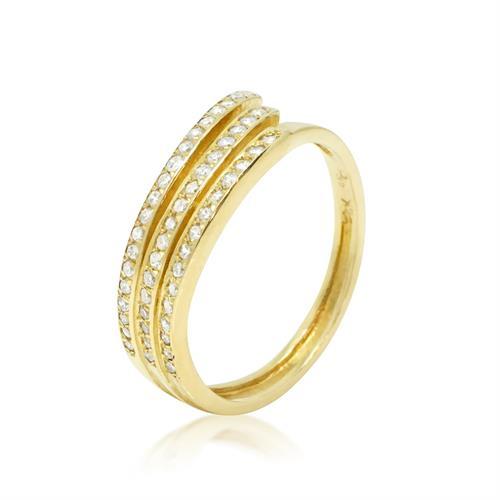 טבעת יהלומים 0.45 קראט בזהב 14 קרט יהלומים לבנים