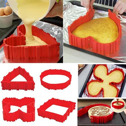 תבנית סיליקון לעיצוב והכנה של עוגות