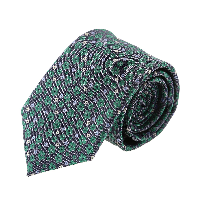 עניבה קלאסית פרחים ירוק