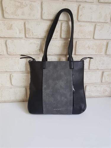 תיק צד לבנת שחור/אפור
