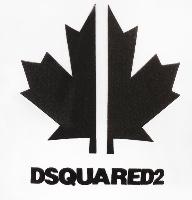 DSQ2 טישרט לבנה לוגו עלה מידות 3-36 חודשים