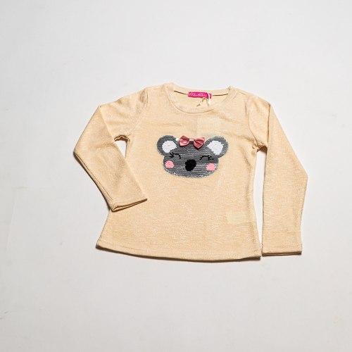 חולצת בנות לייקרה קואלה צהובה