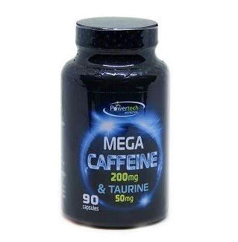"""קפאין 200 מ""""ג & טאורין 50 מ""""ג – 90 כמוסות Caffeine & Taurine"""
