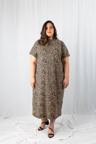 שמלת מדיסון מנומרת