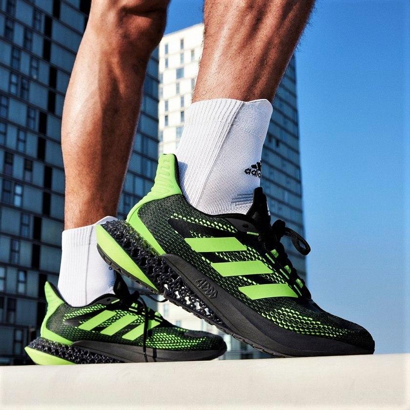 נעלי גברים ADIDAS 4D שחור/ירוק