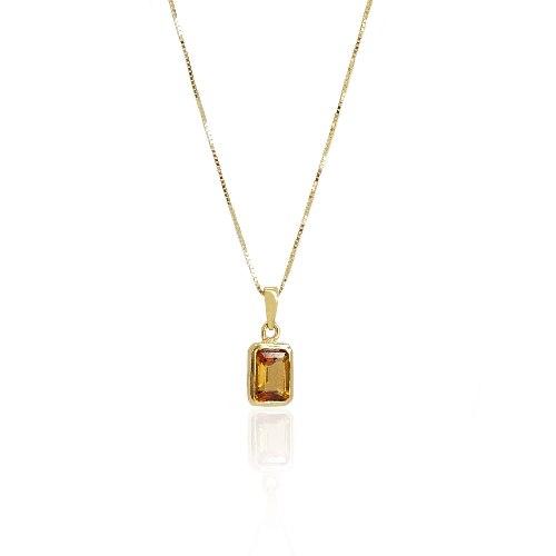 שרשרת זהב תליון אבן חן טורמלין דגם 'אליאנה'