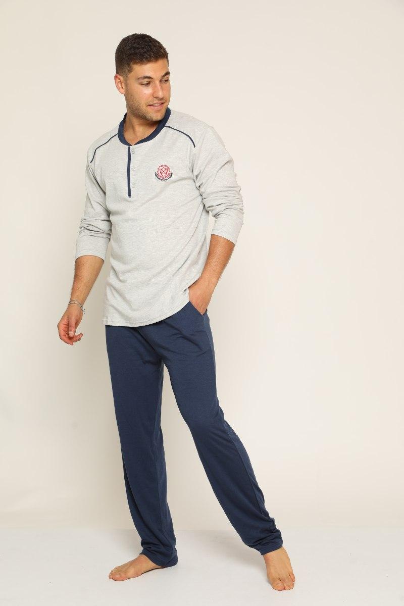 פיג'מה לגבר דגם 003 מכנס כחול