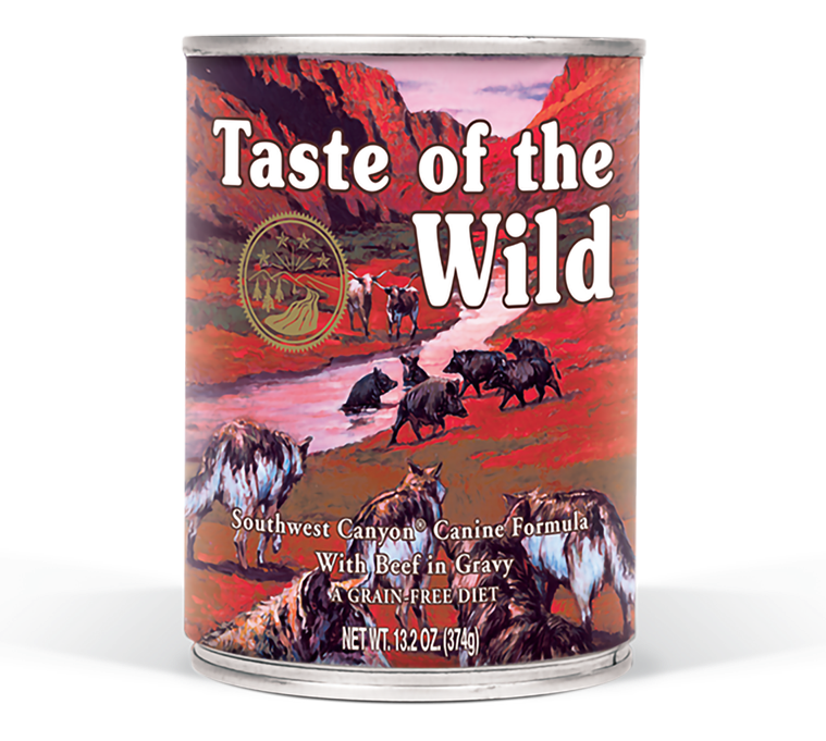 שימור לכלב טייסט אוף דה ווילד בטעם בקר