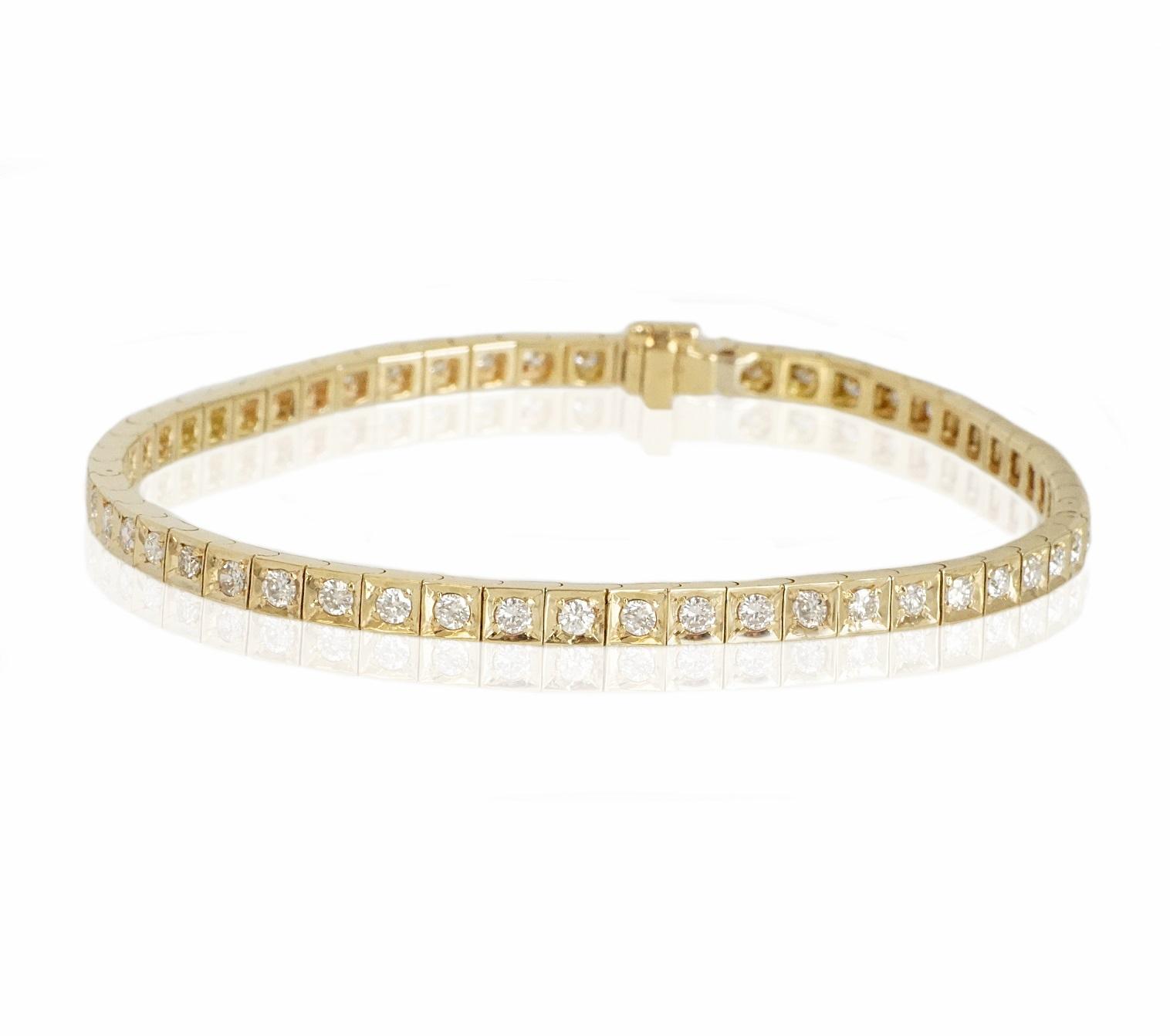 צמיד טניס יהלומים לבנים 2.75 קראט