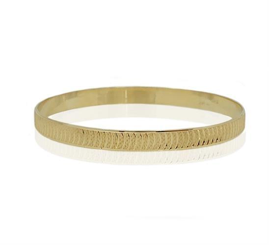 צמיד זהב מרוקאי | עם חריטות לייזר לאורך