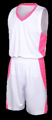 תלבושת כדורסל בעיצוב אישי White דגם #6013