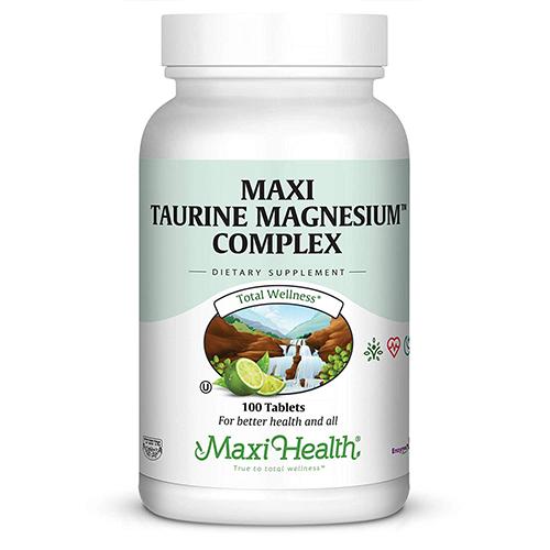 -- Maxi Taurine Magnesium™ Complex מגנזיום טאורין קומפלקס -- 100 טבליות, Maxi Health