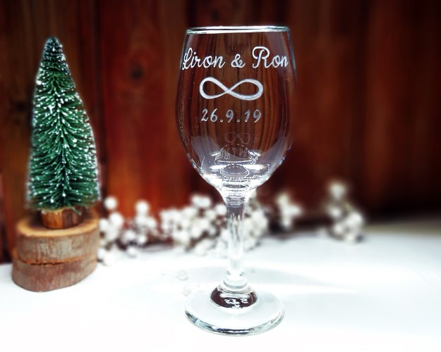כוס יין לחופה | כוס יין מעוצבת |סמל האין סוף