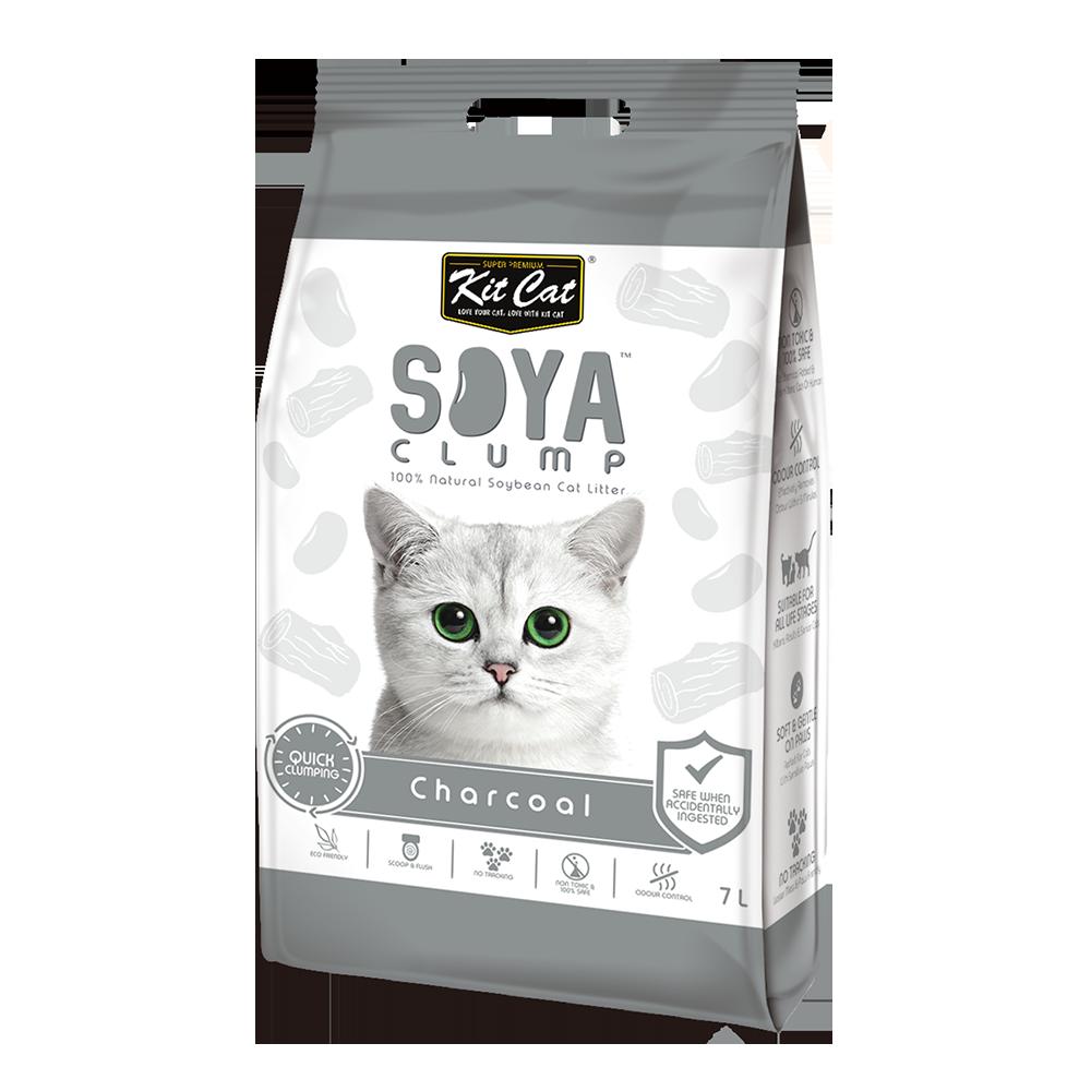 חול חתולים סויה בניחוח פחם 7 ליטר