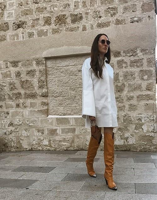 שמלת איזבלה לבנה