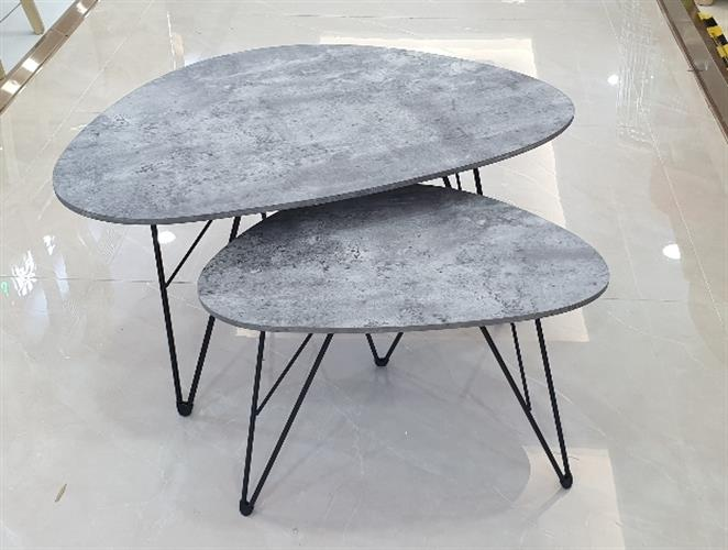 שולחן סלון דמוי בטון מידות 60×40×38 ,60×90×45