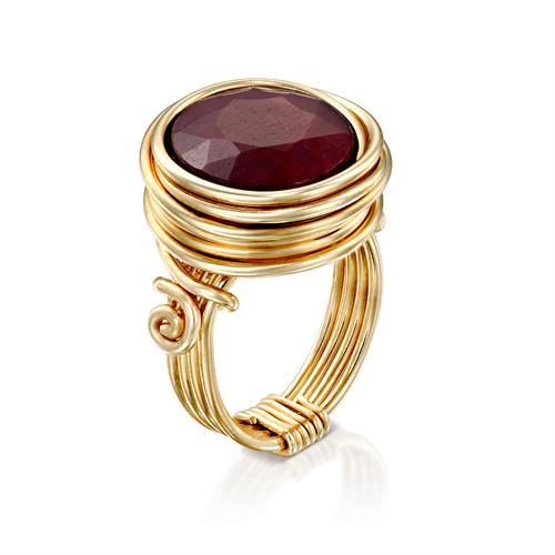 טבעת ריינבו רובי