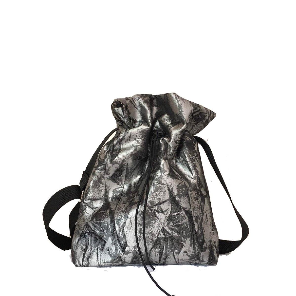 תיק צד מבד באפור ושחור
