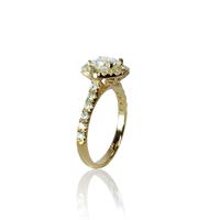 טבעת יהלומים 1.5 קראט בזהב 14 קאראט תעודה גמולוגית