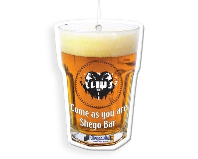 עץ ריח בצורת כוס בירה