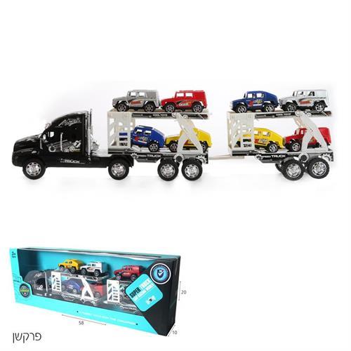 משאית פרקשן גוררת 8 ג'יפים