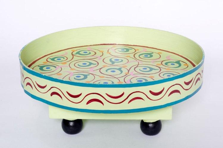 שולחן מגש ירוק