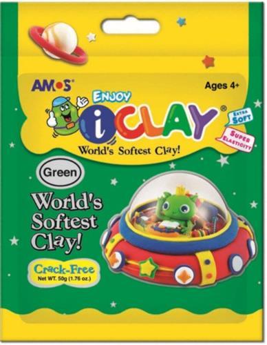 חימר קל I-CLAY ירוק - 50 גר'