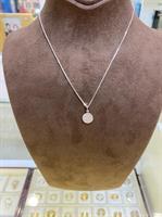 שרשרת זהב לבן 14k משובצת יהלומים