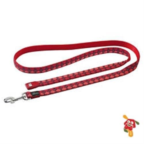 רצועה לכלב אדום משבצות מידה L