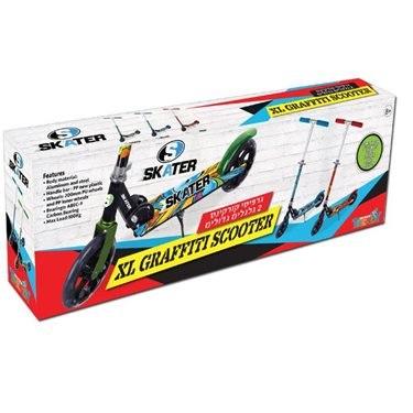 GRAFFITI SKATER - קורקינט אלומיניום מתקפל 200 מ''מ ירוק