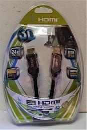 כבל HDMI ל- HDMI אורך 5 מטר 2-4K FULL HD מוזהב 24K