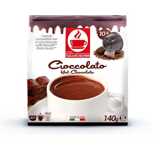 10 קפסולות קפה בוניני CIOCCOLATA תואם דולצ'ה גוסטו