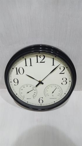 שעון קיר מעוצב שחור/קרם MC1682