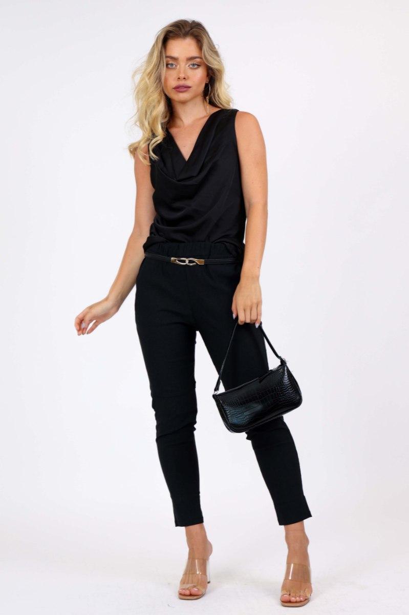 חולצת ערב גלורי  שחור/זית