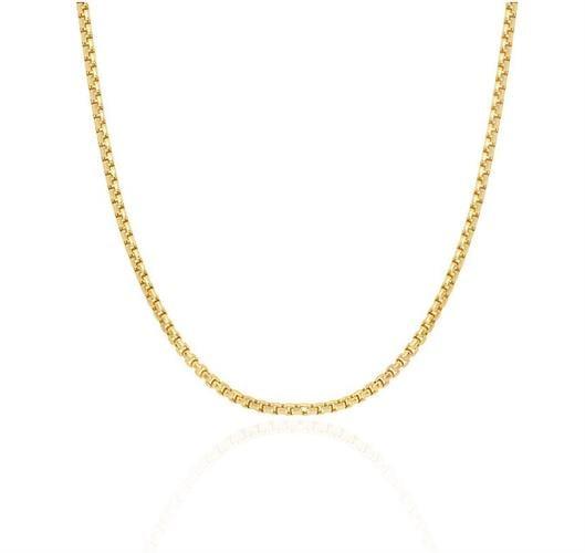 שרשרת זהב לגבר | שרשרת זהב דגם בוקס