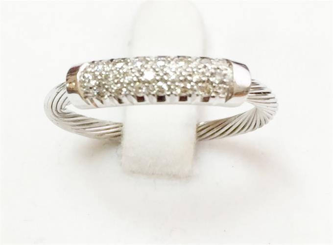 טבעת כלב זהב לבן