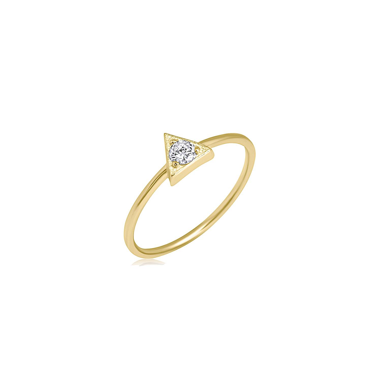טבעת יהלום משולש 0.10 קראט