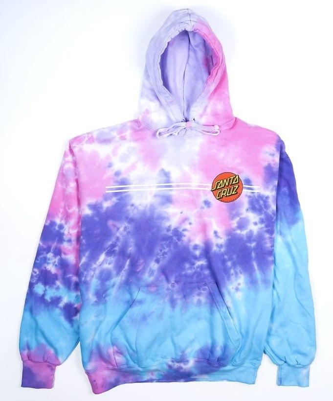 SANTA CRUZ Classic Dot P/O Hooded Midweight Sweatshirt Cotton Candy