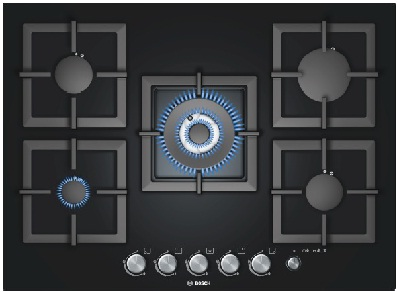 כיריים גז Bosch PPQ716M21Y בוש