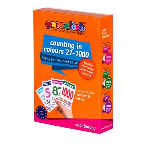 משחק רביעיות gamelish | סופרים בצבעים 21-1000  Numbers & Colors