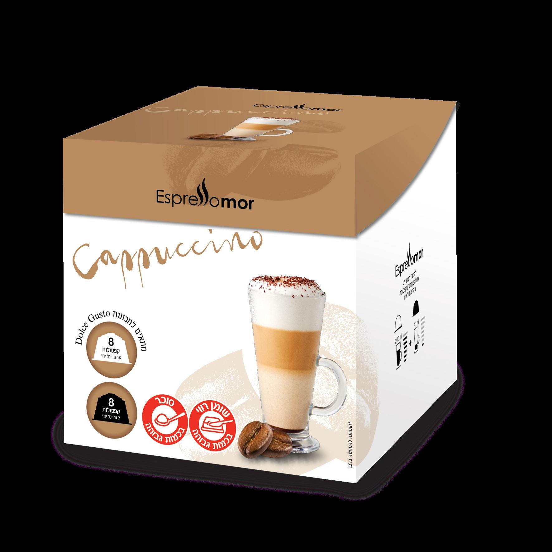16 קפסולות תואמות דולצה גוסטו Espressomor Cappuccino Dolce Gusto