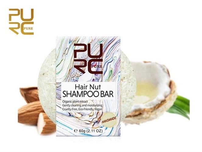 שמפו מוצק אורגני לטיפול בקרקפת יבשה