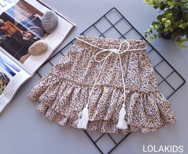 חצאית וואל פרחונית דגם 9458