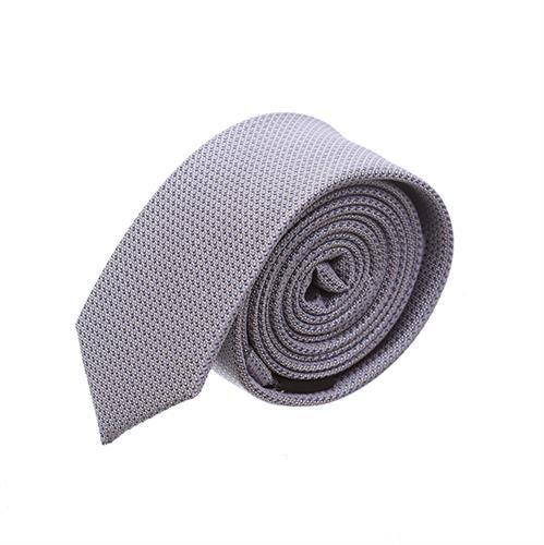 עניבה סלים מדוגמת אפור