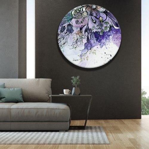 תמונת זכוכית - אבסטרקט סגול