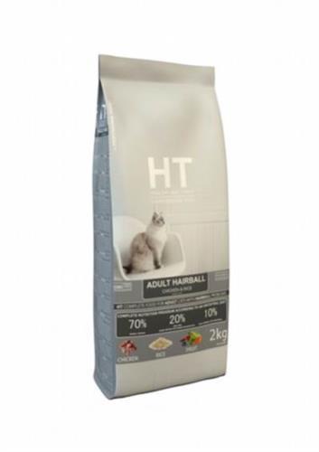 """HT מזון חתולים הירבול לכדורי שיער 2 ק""""ג"""