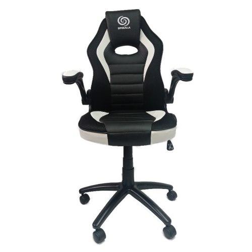 כיסא גיימינג דגם נובה - Nova - איכותי מעוצב ונוח עם משענת מתכווננת בצבעים שחור ולבן