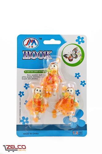 וו תליה צבעוני למגוון שימושים - בובות