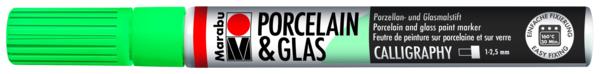 טוש לפורצלן וזכוכית 1-2 ממ - ירוק 153 MARABU CALLIGRAPHY